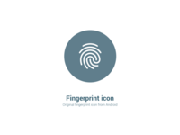 Android Fingerprint Icon
