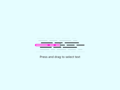 Press and drag empty stage icon communicate paragraph text drag press icon state empty