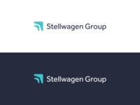 Stellwagen Group Logo Rebrand vector logo finance marketing design refresh identity branding