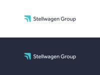 Stellwagen Group Logo Rebrand vector logo finance marketing design refresh identity branding