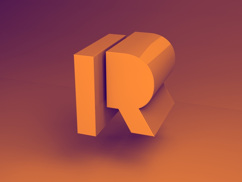Exploring Type and Volume - R by Diego Fernández on Dribbble