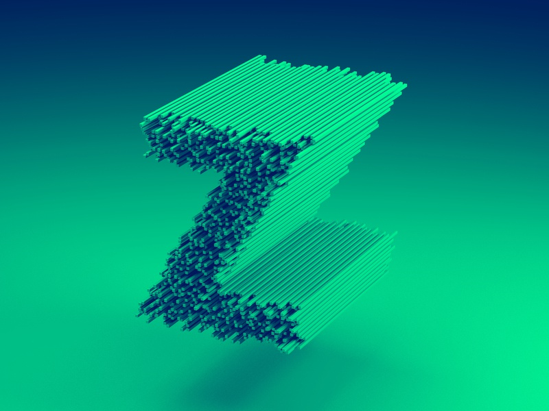 Exploring type and volume - Z by Diego Fernández on Dribbble