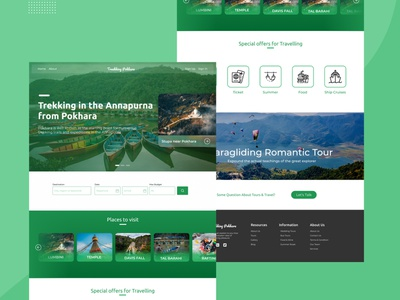 Trekking Pokhara traveling website ui