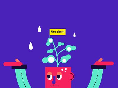 the customer lifetime illustration character illustration plant figma design flat illustration article illustration vector vectorart brandenstein vector illustration adobe illustrator design digital illustration illustrations illustration