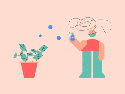OCD Illustration - Mental Health Platform vector illustration vector adobe illustrator digital illustration character character design website illustrations web illustration website branding illustrations branding nonprofit therapist therapy psychology mental disorders mental health obsessive-compulsive disorder ocd illustration
