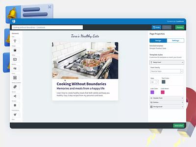 AWeber Ecommerce platform design app design ui design ux product design ui
