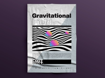 GRAVITATIONAL FIELD /// CONTRAST POSTER