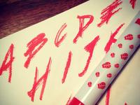 Stamp Pen Lettering