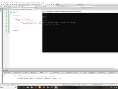 Permutation Nested Loop In C Programming