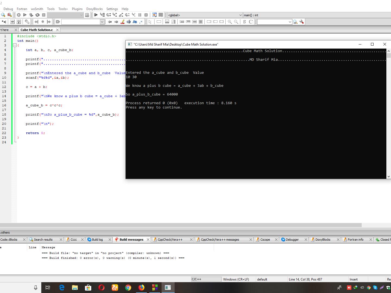 Cube Math Solution code program c porgrammer programming programmer c programming c