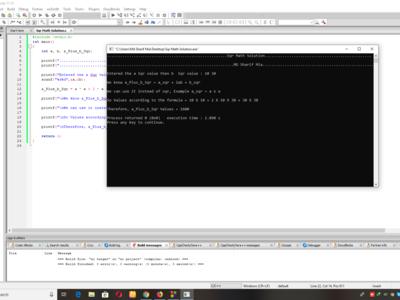 Sqr Math Solution in C programming code