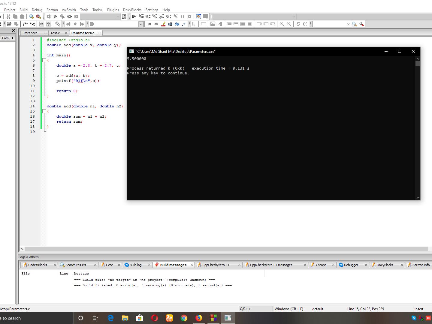 Parameters use work in c Programming new github coders coder coding project work user parameters developement development develope c porgrammer code program programmer programming c programming c