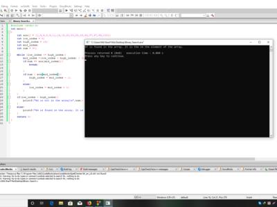 Binary Search using c programming