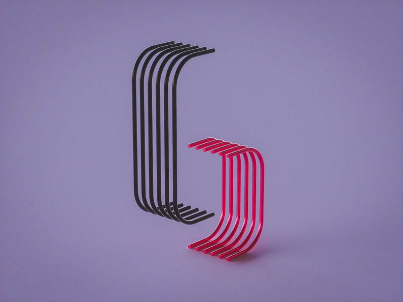 Number 6 numbers letters design concept cool vibrant colors colours 36daysoftype 36 days of type vibrant type otoy octane typography render experiment personal project cinema 4d 3d art 3d