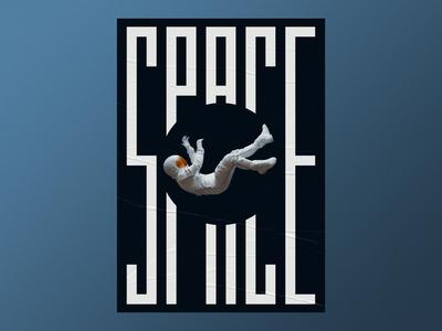Space poster art typographic print design poster design poster vibrant type otoy octane typography render experiment personal project cinema 4d 3d art 3d