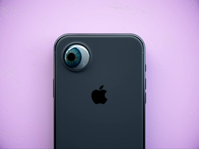 eyePhone fun joke video motion graphics motion contemporary colour phone mockup phone iphone apple vibrant otoy octane render experiment personal project cinema 4d 3d art 3d