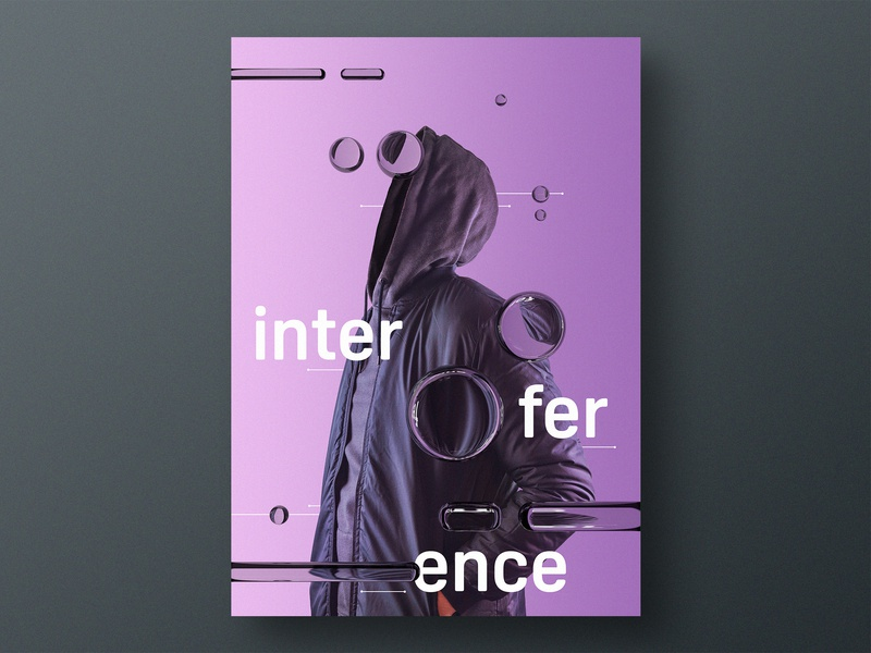 Interference type photoshop photography graphic design design typography render print design print poster design poster personal project experiment editorial cinema 4d 3d art 3d