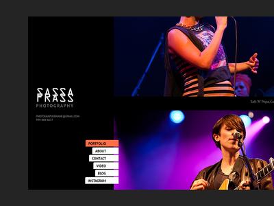 Concert photography site sketch ui web design photography template portfolio