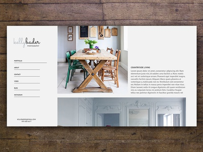 Interiors photography template ui web design photography template portfolio