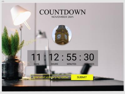 Countdown Timer figma uidesigner uidesign uxuidesign dailyui014 014 dailyui countdown countdowntimer timer prototype ui  ux ui  ux design ui design