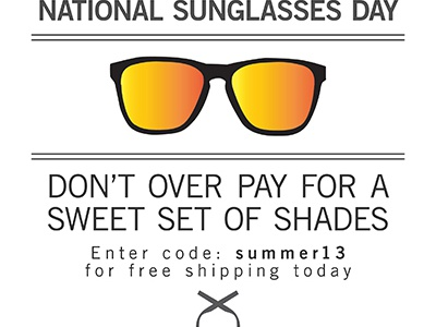 WIP ad for national sunglasses day