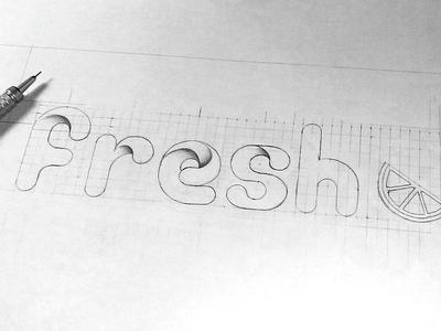 Fresh fm logo sketch
