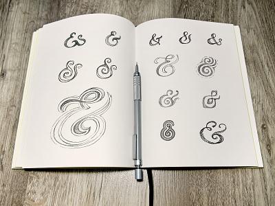 Ampersands sketch illustration lettering hand drawn toodles doodle drawing ampersand