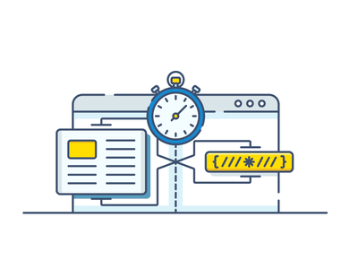 CDN - load time & data compression hosting cdn panel icon compression time load vector