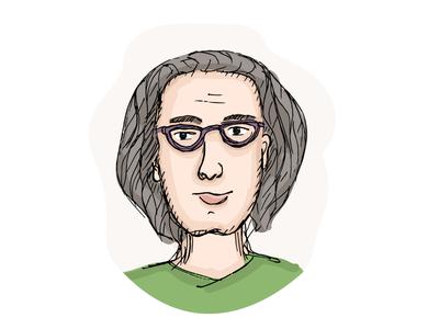Nerd spectacles eyeglasses glasses clever nerd illustration character avatar vector face