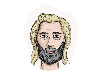 Wanderer face vector avatar illustration wanderer character