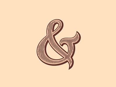 Ampersand #19 engrave typography vector lettering type outline custom ampersand