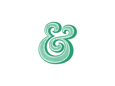 Ampersand #20 type lettering vector typography wood texture ampersand