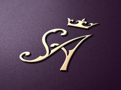 Wedding Dresses Bridal Boutique Logo logo identity crown diadem wedding bridal boutique sa