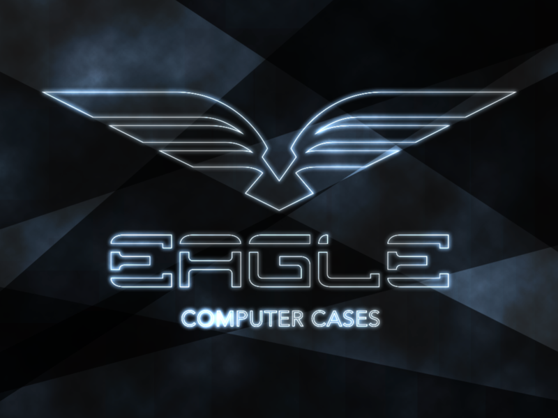 Eagle Computer Cases logotype bird eagle futuristic gamer technology sci-fi lettering web typography logo branding brand texture minimal flat illustration vector graphic design