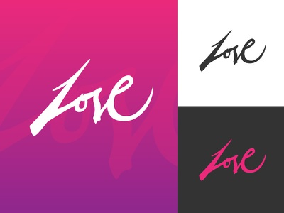 Love free calligraphy expressive love logotype stroke handwriting brush type lettering web logo branding brand typography minimal flat vector graphic design
