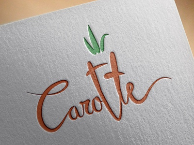Carotte Lettering illustrator abstract logotype veggie handwrite carotte lettering type icon logo branding texture brand typography illustration minimal flat vector graphic design