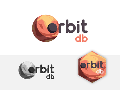 Orbit bd technology space moon planet identity icon website app web type logo branding brand typography illustration minimal flat vector graphic design