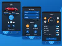 Car Control App heating automobile car key control features dashboard mobile web app ux ui branding brand typography minimal flat vector graphic design