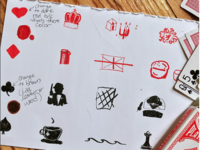 Cheshire Inn Deck of Card Icon sketches