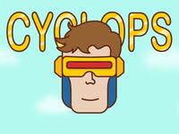 Sticker Mule Halloween Cyclops