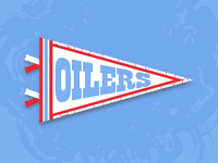 Houston Oilers Pennant