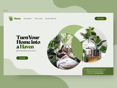 Haven - A Plant Subscription Service Concept