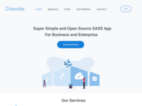 Vanilla Web homepage