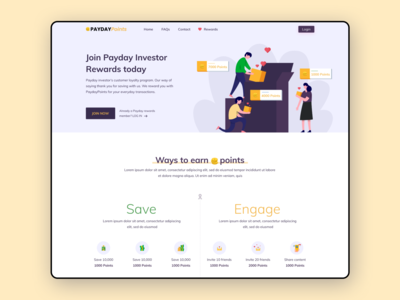 Loyalty Website Landing page