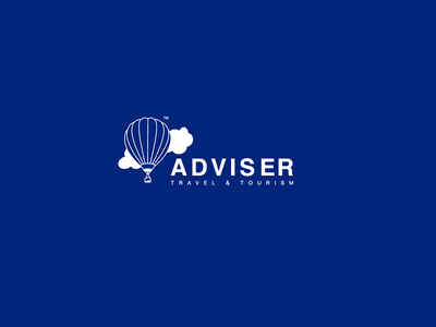 adviser travel agency logo design brand identity brand icon logo