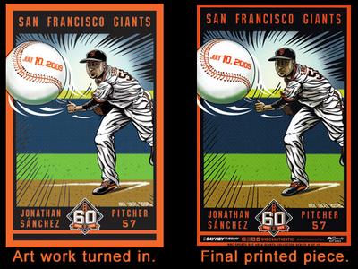 SF Giants Cheer Card