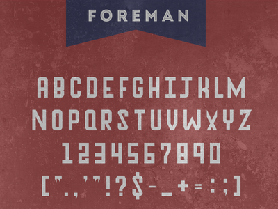 Foreman Specimen Card Small