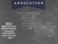 Absolution Specimen Card Small