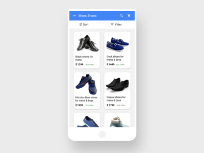 List View | App design