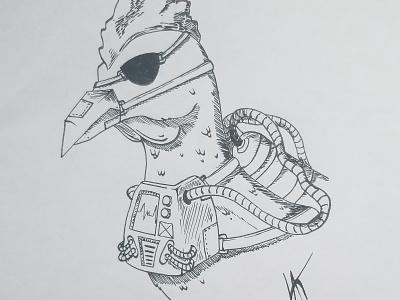 """Inktober day 5 submission - """"Chicken"""" chicken inktoberday5 inktober2018 inktober design illustration drawing"""